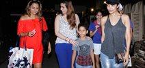 Malaika Arora and Amrita Arora snapped with kids in Bandra