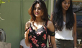 Nidhhi Agerwal snapped post lunch at 'The Kitchen Garden'