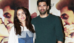 Ok Jaanu promotions at Mehboob studio - Pictures
