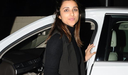 Parineeti Chopra snapped post movie at PVR Juhu - Pictures