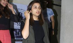 Parineeti Chopra snapped post movie screening at PVR Juhu - Pictures