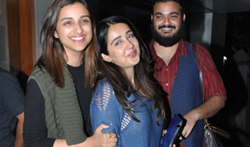 Parineeti Chopra snapped with friends post dinner at 'Salt Water Cafe' - Pictures
