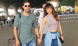 Patralekha and Rajkummar Rao snapped at the airport - Pictures