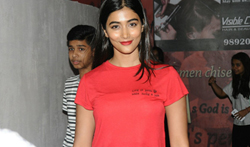 Pooja Hegde snapped post Lion screening at PVR - Pictures