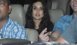 Preity Zinta snapped post her dinner at 'The Korner House' - Pictures