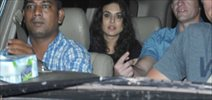 Preity Zinta snapped post her dinner at 'The Korner House'