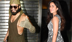Ranveer Singh and Katrina Kaif snapped at Zoya Akhtar's house - Pictures