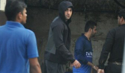 Ranbir Kapoor and others snapped at football practice - Pictures