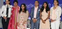 Rahul Bose, Zya Akhtar and Barkha Dutt at Poorna promotions with a cause