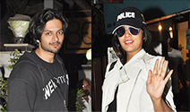Richa Chadda and Ali Fazal snapped at B'Blunt - Pictures