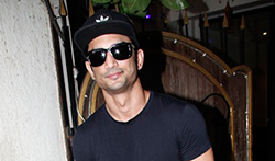 Sushant Singh Rajput snapped post spa at Myrah Juhu - Pictures