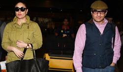 Saif Ali Khan and Kareena Kapoor Khan return from London - Pictures
