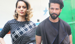 Shahid Kapoor and Kangna Ranaut promote Rangoon on Indian Idol sets - Pictures
