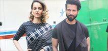 Shahid Kapoor and Kangna Ranaut promote Rangoon on Indian Idol sets