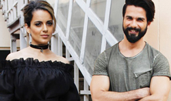 Shahid and Kangana meet access life ngo kids during rangoon promotions - Pictures