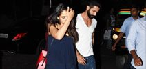 Shahid Kapoor and Mira Rajput snapped post their salon sessions in Bandra