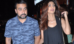 Shilpa Shetty and Raj Kundra snapped post dinner at Bastian - Pictures