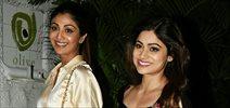Shilpa Shetty & Shamita Shetty snapped at Olive