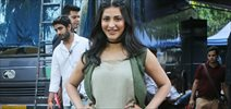 Shruti Hassan snapped post AD shoot in Filmcity