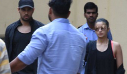 Sidharth Malhotra and Alia Bhatt snapped post meeting at Vishesh film's office - Pictures