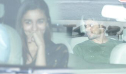 Sidharth Malhotra, Alia Bhatt and Badshah snapped post dinner at Karan Johar's house - Pictures