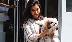 Sophie Choudry snapped at Dessange Salon - Pictures