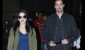 Sunny Leone and Daniel Weber snapped at the airport