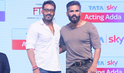 Sunil Shetty and Ajay Devgan at the launch of Tata Sky Acting Adda - Pictures