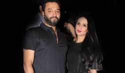 Sunny Dewan and Anu Dewan snapped at the Korner House, Bandra - Pictures