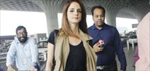 Sussanne Khan snapped at the airport