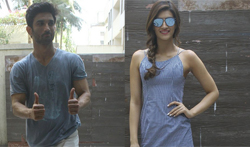 Sushant Singh Rajput and Kriti Sanon snapped at 'Raabta' Promotions - Pictures