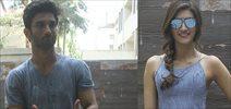 Sushant Singh Rajput and Kriti Sanon snapped at 'Raabta' Promotions
