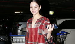 Tamannaah Bhatia snapped at the airport - Pictures