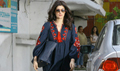 Twinkle Khanna snapped post a salon session in Juhu