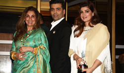 Twinkle Khanna, Dimple Kapadia and Karan Johar at Hello! Hall of Fame Awards 2 - Pictures