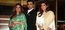 Twinkle Khanna, Dimple Kapadia and Karan Johar at Hello! Hall of Fame Awards 2