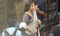 Vidya Balan snapped on the sets of Tumhari Sulu