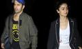 Varun Dhawan and Alia Bhatt return from the promotions of their film Badrinath Ki Dulhania in Kolkata