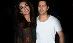 Varun Dhawan and Amy Jackson snapped at 'Iconic' brand shoot - Pictures