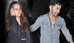 Varun Dhawan snapped with his rumoured GF Natasha post dinner at Bastian Restaurant in Bandra - Pictures