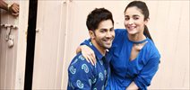 Varun Dhawan & Alia Bhatt snapped promoting their film 'Badrinath Ki Dulhania'