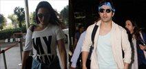 Varun Dhawan, Sonakshi Sinha snapped at the airport