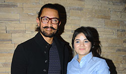 Aamir Khan and Zaira Wasim promote Secret Superstar in Delhi - Pictures