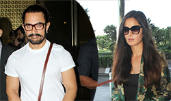 Aamir Khan and Katrina Kaif snapped at the airport - Pictures