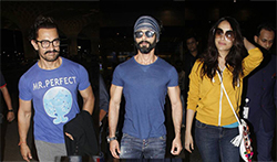 Aamir Khan, Shahid Kapoor and others at airport - Pictures