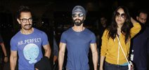 Aamir Khan, Shahid Kapoor and others at airport