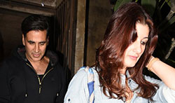 Akshay and Twinkle Khanna snapped post dinner with R Balki in Bandra - Pictures