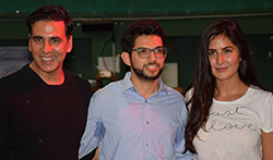 Akshay Kumar and Katrina Kaif snapped attending a martial arts event - Pictures