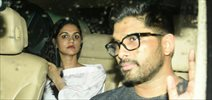 South Superstar Allu Arjun snapped with his wife post dinner at Khar Social