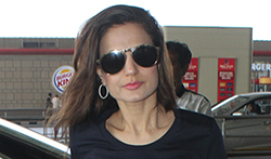 Ameesha Patel at the airport - Pictures